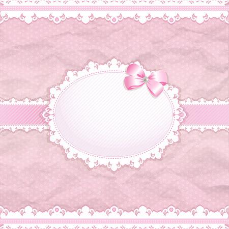 Baby shower for girl, pink pastel tones, vector eps10 Vector