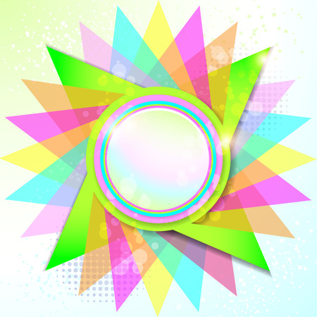 Colorful rounded empty background Stock Photo