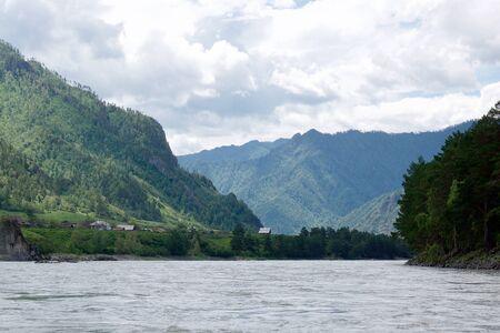 Mountain river Katun. The Republic of Gorny Altai on the territory of the Russian Federation, Siberia.