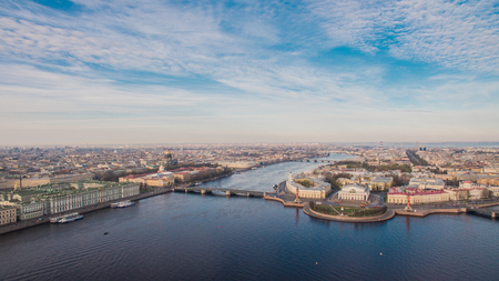st petersburg: Aerial view of the center of Saint-Petersburg