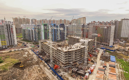 buildingsite: Aerial shot of construction site