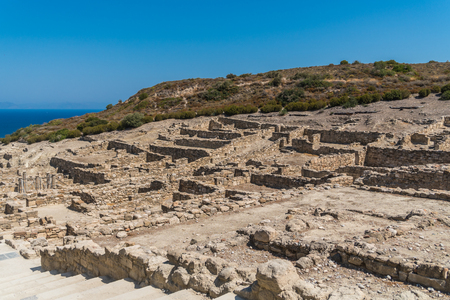 Ruins of ancient Kamiros Stock Photo