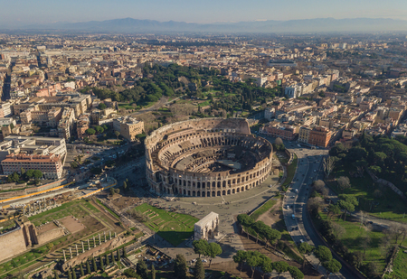 Aerial view of Colosseum Stok Fotoğraf