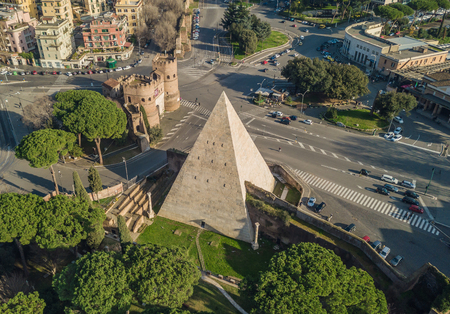 The Pyramid of Cestius in Rome