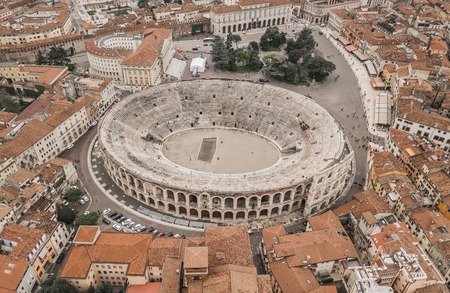 Aerial view of Arena di Verona