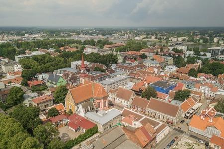 Aerial view of Parnu