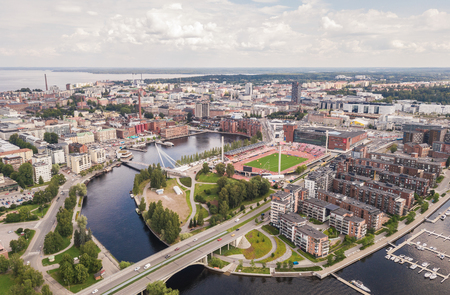 Aerial view of Tampere