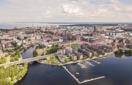 Luftaufnahme von Tampere Standard-Bild