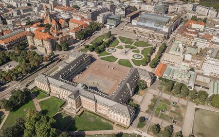 Aerial view of Schlossplatz