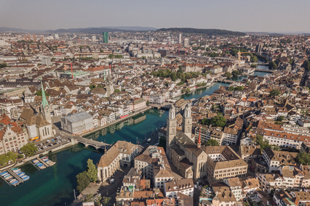 Cityscape of Zurich Stock Photo
