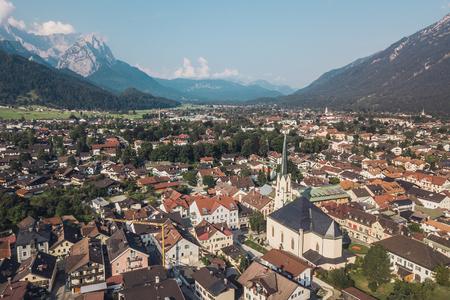 Aerial view of Garmisch-Partenkirchen Stock Photo
