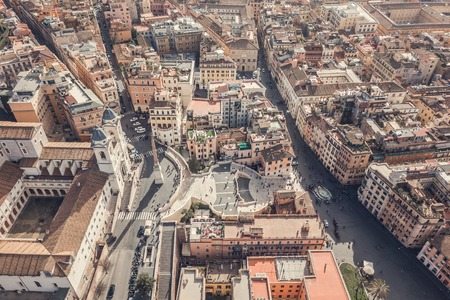 Piazza di Spagna and the Spanish Steps in Rome