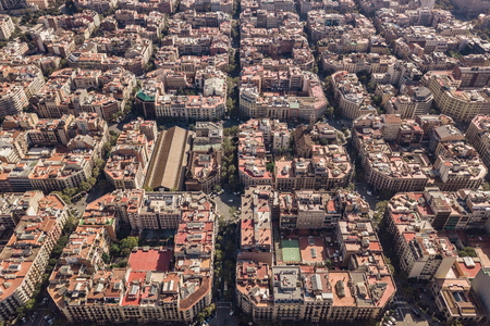 Typical square quarters of Barcelona