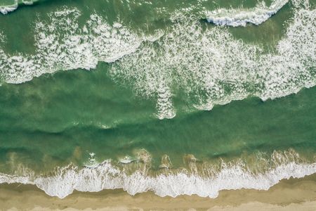 Top view of sea waves Stock Photo