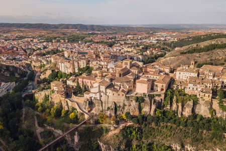Aerial view of Cuenca Stock Photo