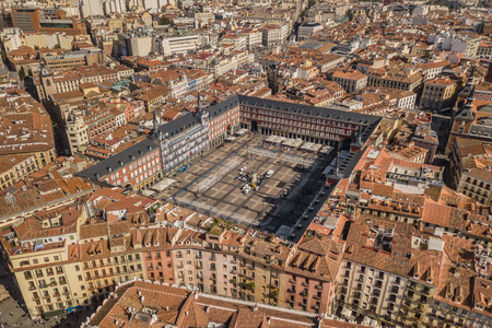 Aerial view of Plaza Mayor