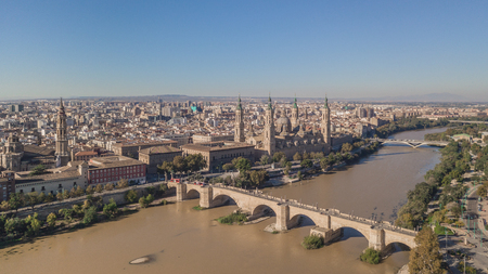 Cityscape of Zaragoza