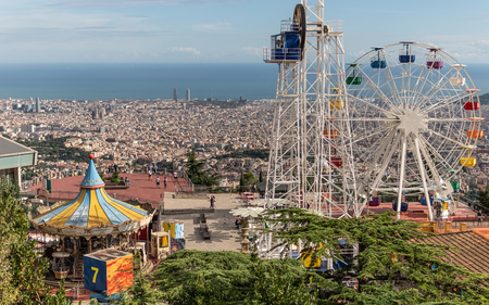 Tibidabo amusement park in Barcelona