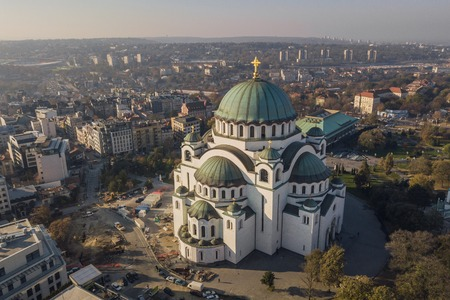 Temple of Saint Sava in Belgrade 版權商用圖片