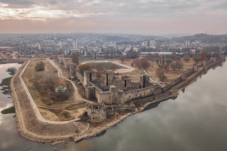 Aerialv view of Smederevo Fortress