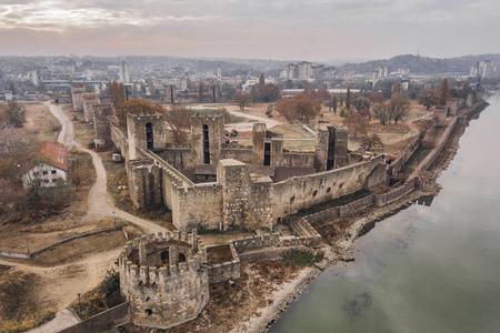 Aerialv view of Smederevo Fortress