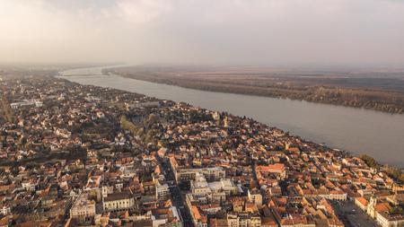 Aerial view of Zemun Stock Photo