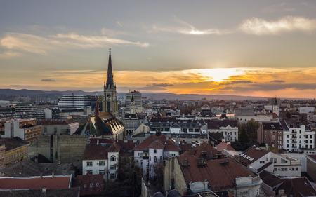 Novi Sad before sunset Stock Photo