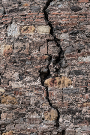 Big crack in old wall