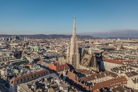 Aerial view of St. Stephens Cathedral