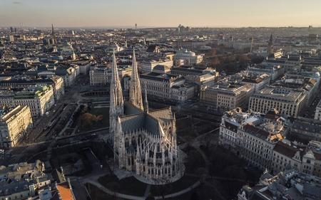 Aerial view of Votivkirche