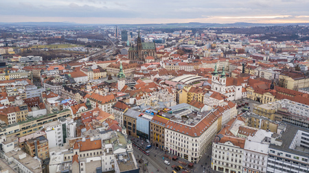 Historical center of Brno in Czech Republic