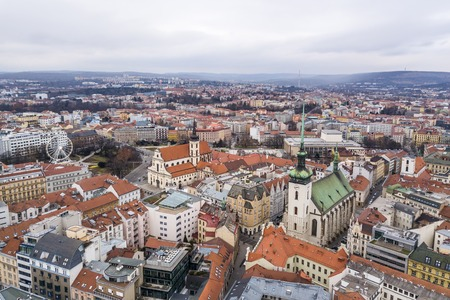 Cityscape of Brno in Czech Republic