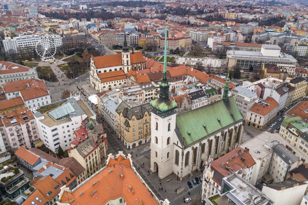 St. Jacobs Church in Brno Stock Photo