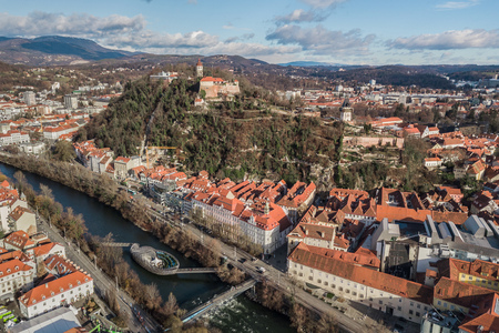CItyscape of Graz, Austria Stock Photo