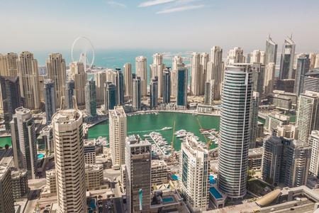 Aerial view of Dubai Marina district