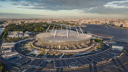 Aerial view of Gazprom Arena 新聞圖片