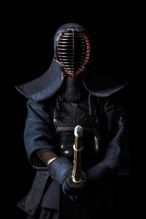 Portrait of kendo fighter Banque d'images