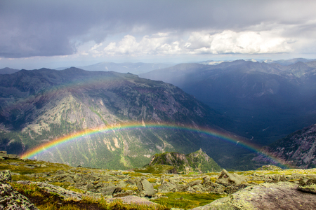 Ergaki の虹 写真素材