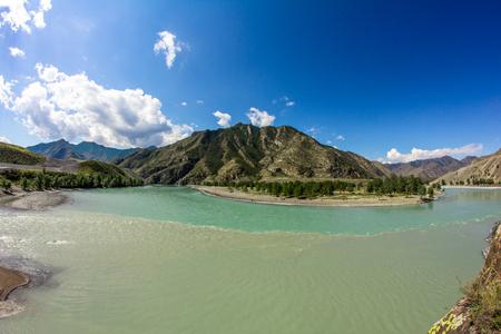 The confluence of Chuya and Katun