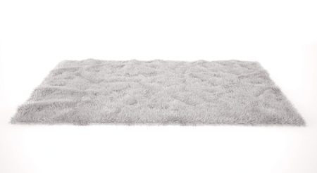 beautiful cozy carpet isolated on white background. 3d render