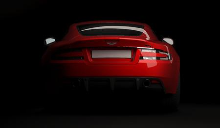 Almaty, Kazakhstan. April 15: British luxuty sport car coupe Aston Martin DBS on black background. 3D render