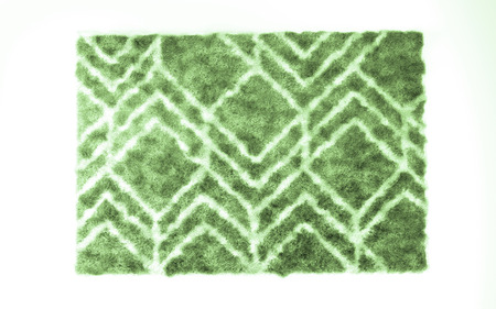 Fuzzy carpet isolated on white background. Interior element. 3d render