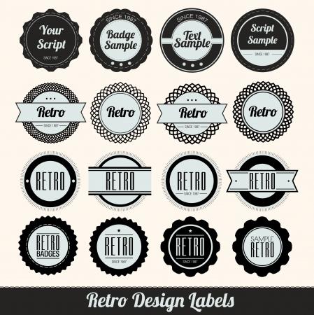 Retro Style Badges Vector
