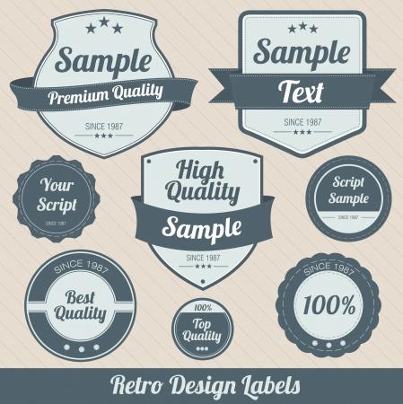 Retro Design Badges Vector