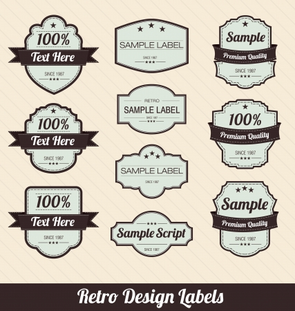 Retro Style Badges Vector