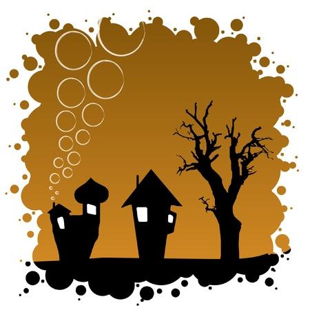 Abstract Autumn Background - Halloween Design Vector