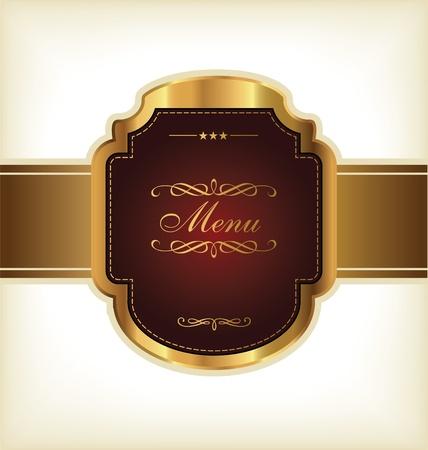 Golden Vintage Menu Design