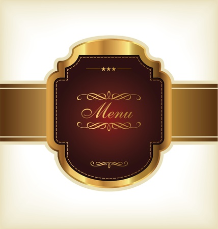 Golden Vintage Menu Design Stock Vector - 14536624