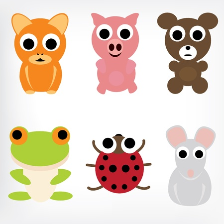 Animal Characters Set Vector