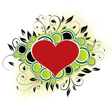 scroll shape: Valentine s Design - Green Illustration